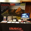 The UNAVCO booth at SSA 2017, ready for visitors. Monday, April 17, 2017 in Denver, Colorado. (Photo/Melissa Weber, UNAVCO)
