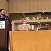 UNAVCO's Ken Austin presents at the 2018 meeting of the Seismological Society of America.  May 17, 2018.  Miami, Florida.  (Photo/Christian Walls, UNAVCO)