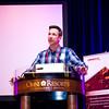 Josh Roering introduces the keynote speaker at the 2016 UNAVCO Science Workshop. (Photo/Jesse La Plante)