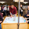 Meeting participants learn hands-on in the EnGAGE Interactive Space at the 2016 UNAVCO Science Workshop. (Photo/Jesse La Plante)