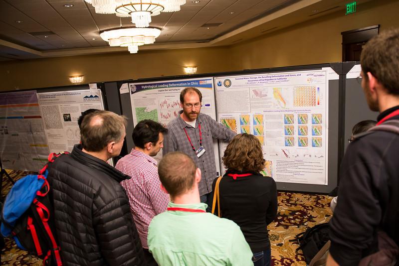 Poster session at the 2016 UNAVCO Science Workshop. (Photo/Jesse La Plante)