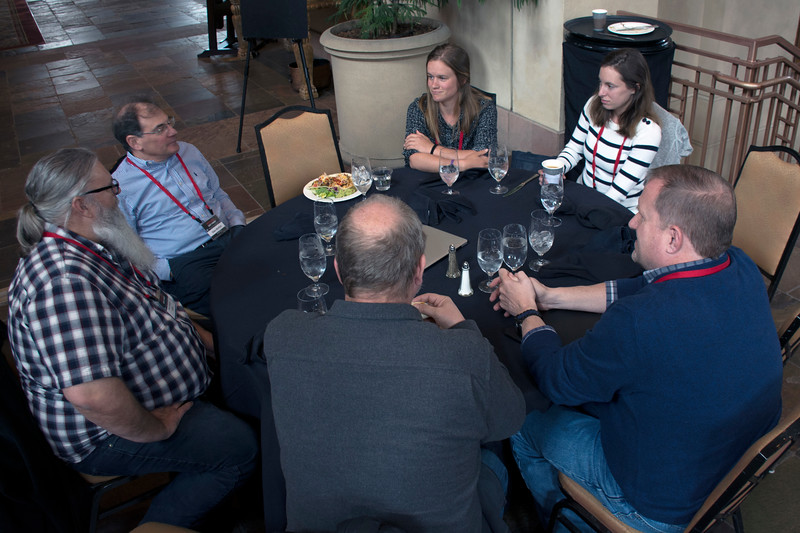 Lunch time at the 2018 UNAVCO Science Workshop.  This is a great opportunity for our community to network.  March 28, 2018.  Broomfield, Colorado.  (Photo/Daniel Zietlow, UNAVCO)