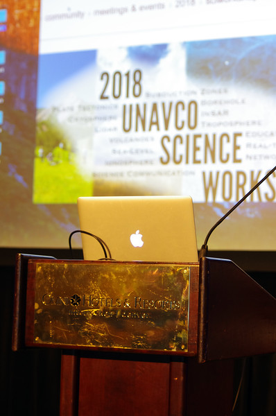 Plenary session of the 2018 UNAVCO Science Workshop.  March 27, 2018.  Broomfield, Colorado.  (Photo/Daniel Zietlow, UNAVCO)