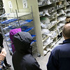 2018 UNAVCO Science Workshop participants tour the USGS Core Research Center and NSF Ice Core Facility.  Both centers preserve valuable rock and ice core samples for scientific research.  March 29, 2018.  Lakewood, Colorado.  (Photo/Daniel Zietlow, UNAVCO)