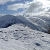 Back along ridge from Beinn Fhionndlaidh