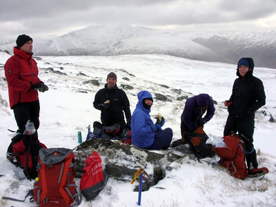Lunch stop on way up An Socach