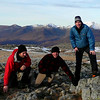 Dom, Julian and Scott at the top of Beinn a'Chrulaiste