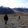 Julian and Dom heading up Beinn a'Chrulaiste. The two Buachailles and Bidean in the background