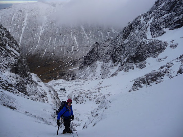 First pitch of No.4 Gully, Ben Nevis