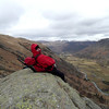Dom has a good view down Borrowdale