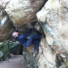 Neil bouldering on the Bowderstone