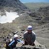 Jennifer and Julian climbing the west side of Sgurr Alasdair
