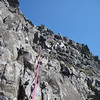 Jules sheperds a rope of four up the west side of Sgurr Alasdair!