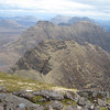 The Horns of Alligin and Beinn Dearg from Sgurr Mor.
