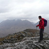 Scott looking over to Liathach from Stob Dubh