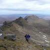 Julian and Alex approaching the top of Baosbheinn