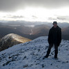 Craig at the top of Stob Choire Mheadhoin