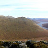 Loch Monar from the top Beinn Tharsuinn