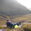 Graham has a rest low down on Slioch