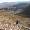 Graham ascending Slioch