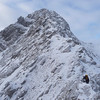 On one of the classic winter ridge traverses...the Forcan Ridge