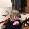 Angus puts on his drinking hat!