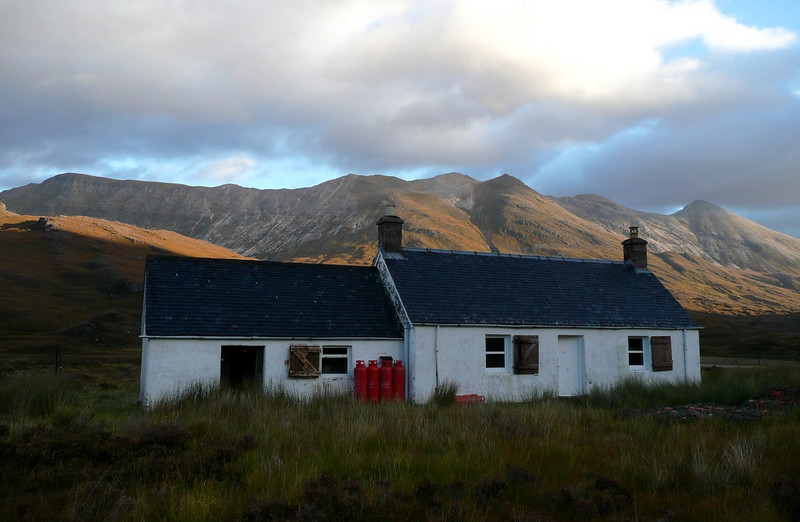 Ling Hut with Beinn Eighe behind
