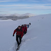Deep snow on the way round to Coire an t-Sneachda