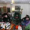 Some of the crowd in the hut