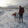 John cycling up Glen Derry en route to Beinn a'Mheadhoin
