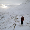 Walking up to the col below Beinn a'Mheadhoin