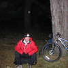 Fraser biking in to Carn Etchachan.