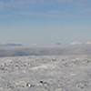 Panorama looking towards the Cairngorms from the Glen Shee hills.