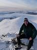 Scott at the top of Meallan nan Uan