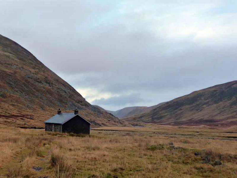 Dalbeg bothy on way up Carn na Saobhaidhe in the Monadhliath