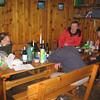 Gavin, Jules, Graham and Bob in the hut
