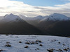 The Ring of Steall in the Mamores from Aonach Beag.