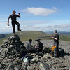 Gavin does a jig on the cairn at the top of Cairn of Claise!