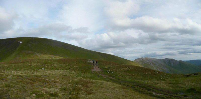 On the way up Glas Maol. Creag Leacach to the right.