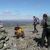 At the summit of Cairn of Claise