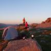 Campsite high on the ridge