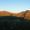 First sight of the tops of Beinn a'Bheithir