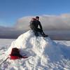 Gordy at the top of Creag Meagaidh