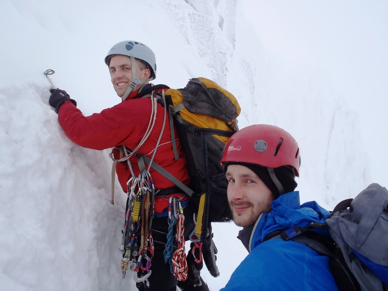 Neil and Dave on the Milky Way, Northern Corries