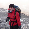 Dom experiences the freezing wind on An Teallach