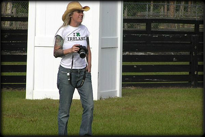 Shooting the 2006 Apache Ring Club, French Ring trial in West Palm Beach, FL.  Photo by Brian Branon