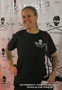 """Shooting the """"A Night for the Oceans"""" Sea Shepherd fund raiser event in Los Angeles, CA in 2010. Photo by Kadi Thingvall"""