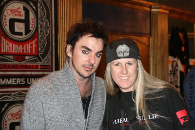 On location with 30 Seconds To Mars drummer, Shannon Leto, at The Music Box in Hollywood, CA shooting for the annual 2007 Guitar Center Drum Off. Photo by Kadi Thingvall.