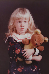 My favorite photo of me when I was 4 years old.  This photo was taken at a Portrait Studio in Jefferson City, MO.  I always had a stuffed animal with me.