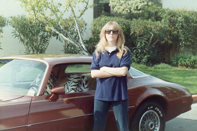 Me in college with my 1978 Firebird...which I still have to this very day. This car was given to me by my dad in 1989 when I was in High School.  Photo by William D. Suggett.